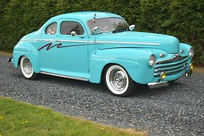 """1946 Ford Business Coupe 1950's Custom Hot Rod Chopped 1946 FORD BUSINESS COUPE CUSTOM, CHOPPED 4"""", 400 CHEVY, A/C, AUTO, LEADSLED."""