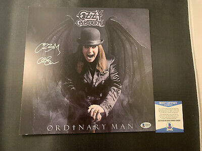 Ozzy Osbourne Signed Ordinary Man Lithograph and SEALED Vinyl  BAS COA Autograph