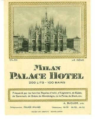 Antique Milan Palace Hotel Italy Victorian Advertising Trade Card Nice!