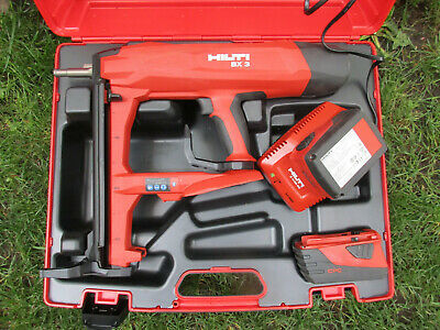 Hilti BX 3 22V Battery Actuated Fastening Tool Nail Gun 2 Batteries Charger