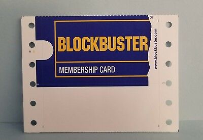 Only 1 New Original Blockbuster Video Membership Card See Details