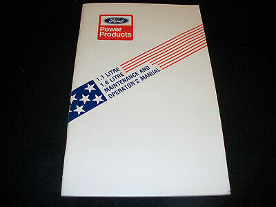 Original 1978 Ford 1.1 & 1.6 Litre Industrial Engine Owner's Manual