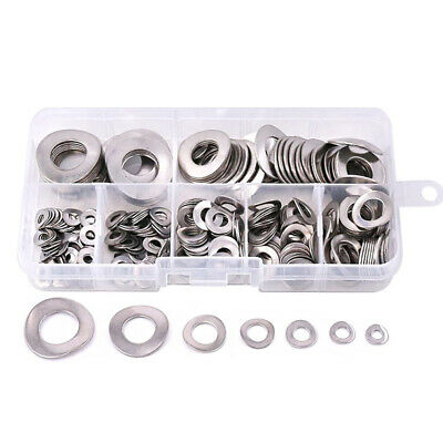 660pcs 6 Size Car Truck Stainless Steel 304 Spring Washer Gasket Assortment Kits
