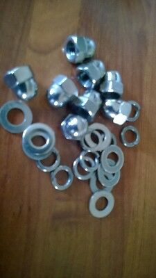 M8 dome wheel nut kit stainless Steel With Flat Washers And Spring  Washers