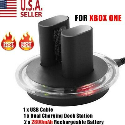For XBOX ONE Controller Play Charging Cable + 2x Rechargeable Battery