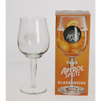 2 x NEW Aperol Spritz Large Glass Bowl Goblet Boxed Brand New Gift Collectable