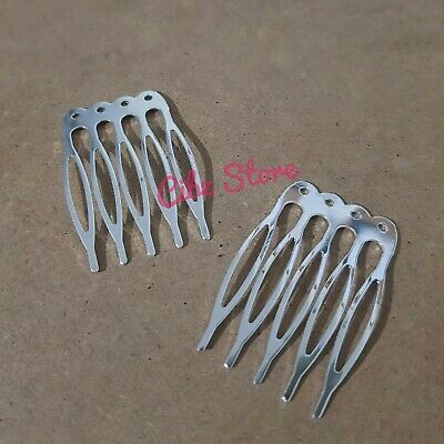 4x Metal Hair Comb Clips Blank Base DIY 40*16mm Quality Styling Pins AUS STOCK