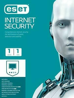 ESET NOD32 Internet Security 2020 -1 PC, 2 year -from UK Seller Instant Delivery
