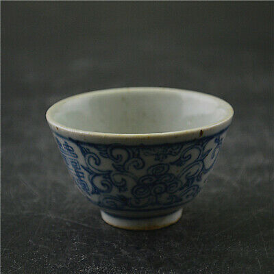 Collect Chinese Ming Dynasty Porcelain Double Happiness Link Branch Teacup Cup