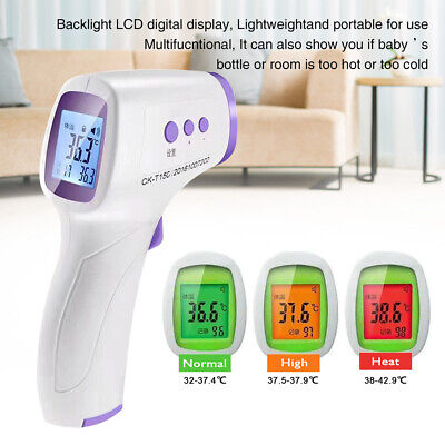 Handheld Infrared Contactless Thermometer LCD Digital Body Adults Forehead