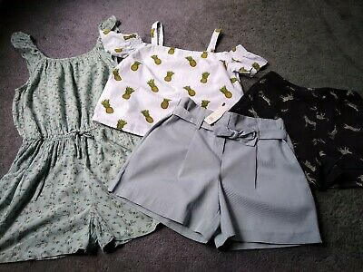 Girls Shorts Top Playsuit Bundle Age 9-10 River Island New Look Next