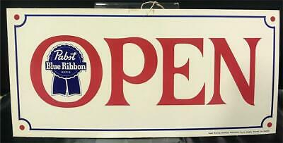 Vintage Pabst Brewing Co. Blue Ribbon Open/Closed Sign  Milwaukee Original NOS