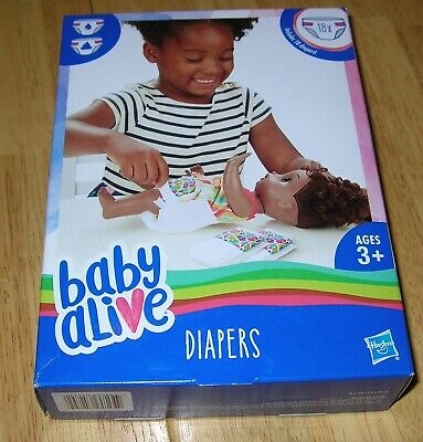 18 pack Baby Alive Disposable Diapers Replacement Refill Box of 18 New In Box