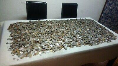 LOT WORLD COINS 1Kg 1000 grams  (220-260 coins each) Free Shipping