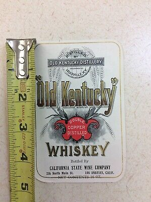 Old Kentucky Whiskey Vintage Alcohol Label (K3-3)