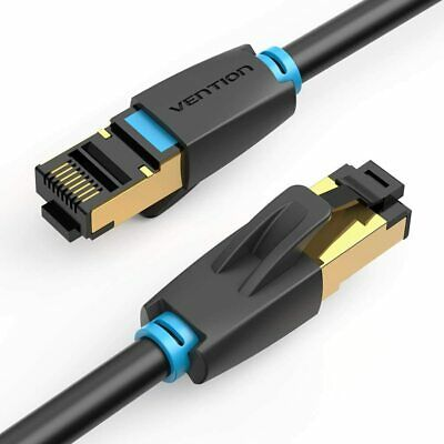 RJ45 CAT 7 Network Ethernet Cable High Speed Gold SFTP LAN Patch 1m 2m 5m Black
