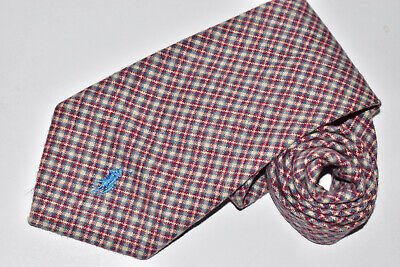 Men's Polo by Ralph Lauren Red  100% Cotton   Neck Tie made in USA