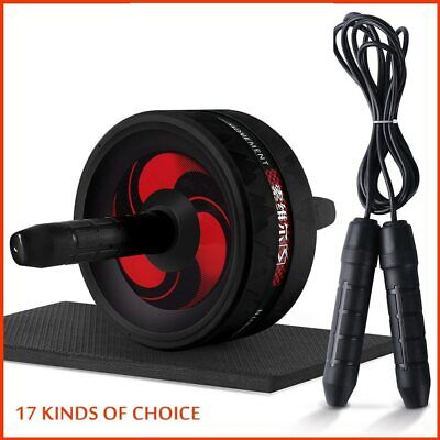 Abs Roller Exercise Wheel for Abdominal Core Training Workout Skipping Rope Jump