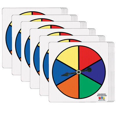 Learning Advantage (6 St) Six-Color Spinners Per Set 7354Bn