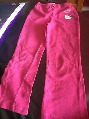 """TU Hello Kitty Girls Track Suit Bottoms/ Trousers 7 Years Leg 18 3/4"""""""