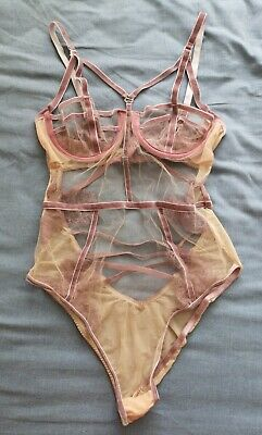 ASOS Women's Arielle Trapped Lace Velvet Trim Body Size 32C Good Used Condition