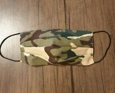 Handmade Cotton FaceMask Washable Reusable Military Camouflage Pocket for filter