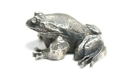 S Kirk & Son Sterling Silver Frog Paperweight Cast Miniature Figure