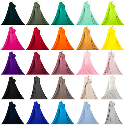 Premium Quality Viscose 4 Way Stretch Rayon Spandex Jersey Fabric