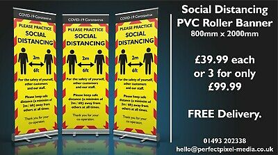 Roller Banner Display Stand Social Distancing