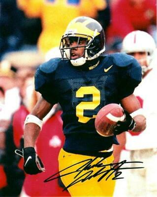 REPRINT - CHARLES WOODSON Michigan Wolverines Signed Autographed 8 x 10 Photo RP