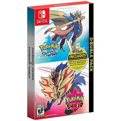 Pokemon Sword and Shield Double Pack - Nintendo Switch - Brand New Sealed