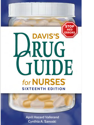 Davis's Drug Guide for Nurses 16th P.D.F