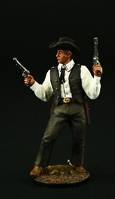 Tin soldier, Collectible, American Cowboy with two Revolvers 54 mm, Old West