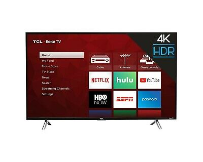 "TCL-43"" Class-LED-4Series-2160p-Smart-4K UHD with HDR-Roku TV-(43S425)-Brand New"