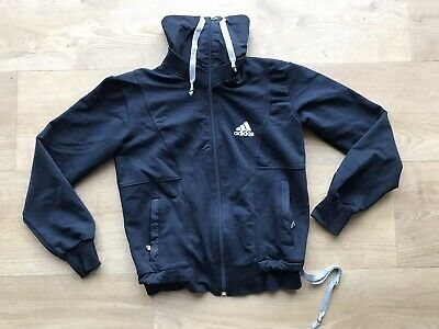 Adidas girls Black jacket hoodie Hoody 10-12 years Medium size Butterfly