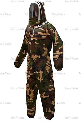 Camo Cotton Beekeeping Full Suits Heavy Duty Unisex Bee Beekeeper Multiple Sizes