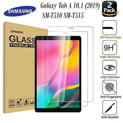 2PC Tempered Glass Screen Protector for Samsung Galaxy Tab A 10.1 2019 T515 T510