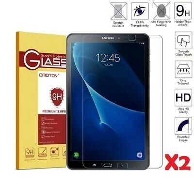 "2 Pack Tempered Glass Screen Protector Film For Samsung Galaxy Tab A 10.1"" T585"