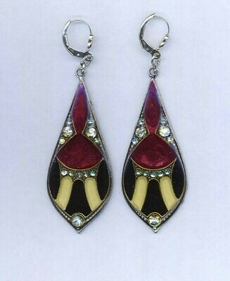 Stunning  Vintage Pierre Bex Art Deco Earrings