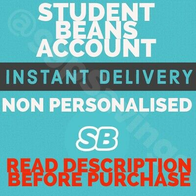 Student Account - Student Beans - Not Unidays  Cheapest - Not Persoalised