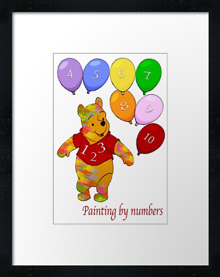 "Learn to count print or canvas print, framed print or 30"" x 20"" poster"