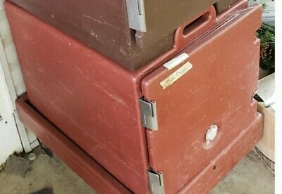 Cambro Pan Tray Carrier Brick Red Portable Food Holding Box Insulated 300MPC