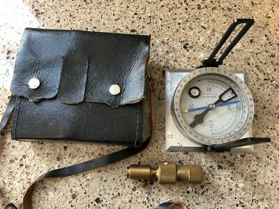 Charvoz Surveyors Staff Compass with Leather Case