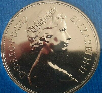 1972 10P Larger  proof Coin. Not released. Low Mintage. Wow  heads excellent