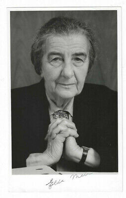Golda Meir Signed Photo w/ Envelope / Autographed Israel Judaica