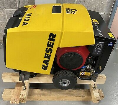 NEW! HPC / Kaeser M13 Portable Petrol Honda V-Twin Rotary Screw Compressor 35Cfm