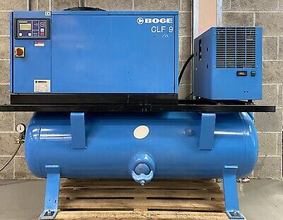 Boge CLDF9-270 Variable Speed Drive Rotary Screw Compressor + Dryer + Filters!