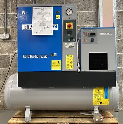 New! Mark MSM5.5 Receiver Mounted Rotary Screw Compressor With Dryer! 21Cfm