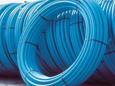 20MM BLUE MDPE PLASTIC MAINS WATER PIPE 25m 50m 100m 150m Roll Coil Underground