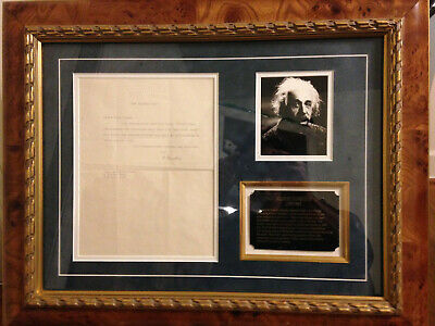 "Albert Einstein 1943 autograph ""signed"" letter - Beautifully Framed - RARE!"